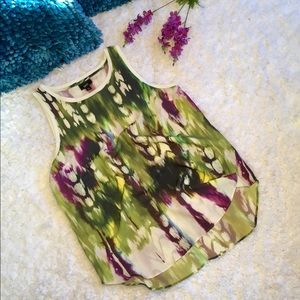 🦋Colorful Abstract Sleeveless Mossimo Top S